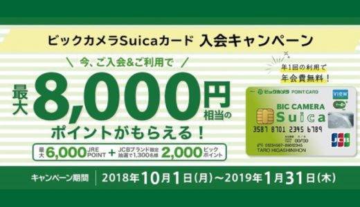 【ハピタス】ビックカメラでお得にポイントが貯まるカードを発行するだけ「期間・人数限定」で4200円相当分ポイント獲得可能!